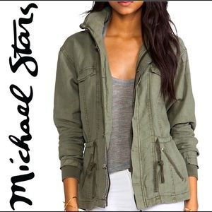 Michael Stars   Utility Jacket Olive Green